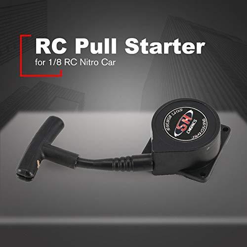 HoganeyVan Pull Starter Handle Retroceso Arranque Motor SH28 Herramientas Accesorios para 1//8 Nitro Gasolina Combustible RC Car Modelo Repuestos