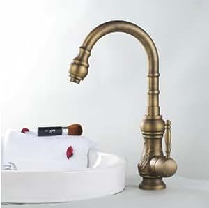 Lat n envejecido para lavabo grifo de dise o de grifo mezclador monomando para w89754 - Grifos de lavabo de diseno ...