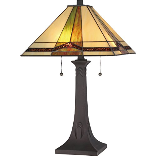 Quoizel Lighting TST3066F Illumina Direct Closeout Table Lamp Illumina Direct Collection (Chandelier Glass Stained Quoizel)