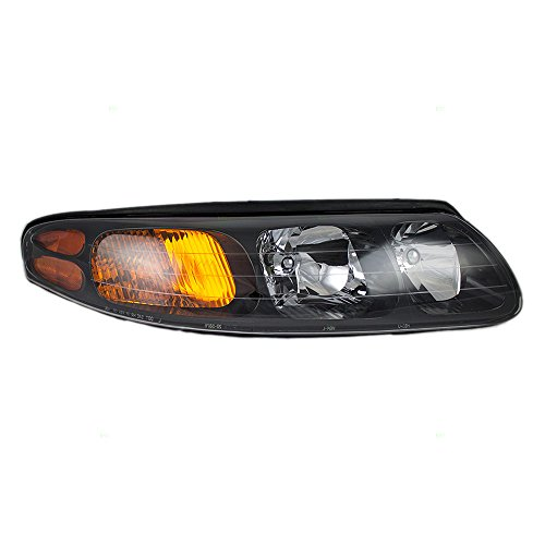 Headlight Headlamp Lens Passenger Replacement for 00-04 Pontiac Bonneville 25718686 19245099 ()
