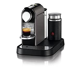 Nespresso Citiz C120 Espresso Maker with Aeroccino Milk Frother, Titanium