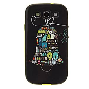 LIMME Numbers Pattern Detachable Plastic Soft Back Case Cover for Samsung Galaxy S3 I9300