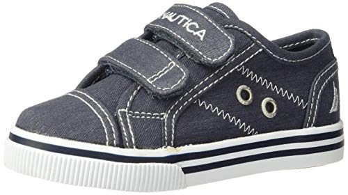 (Nautica Boys' Colburn Toddler Slip-On, Navy Mix, 7 M US )