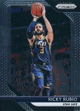 sports shoes c1345 e0fca Amazon.com: 2018-19 Panini Prizm #133 Ricky Rubio Utah Jazz ...