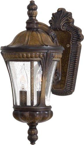 Minka Lavery 9141-407 2 Light Outdoor Wall Mount, Prussian Gold Finish