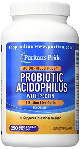 (Puritans Pride Probiotic Acidophilus with Pectin-250 Capsules, 250 Count)