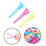 60Pcs/Pack Colorful Salon Hair Clip Barrette Hairpin for Hair Dyeing Haircut Styling