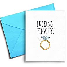 engagement card funny wedding congratulations card bridal shower cards