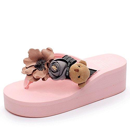 Pantofole Sandali con del cm Sandali Fresche Piccole Ciabatte Spessa 5 Oblique Donna da La Tacco Nuove D'Estate Ciabatte Altezza Le Suola Pink CHENGXIAOXUAN con Scarpe 5 XUzwRqw