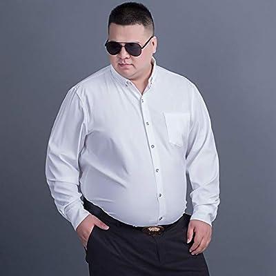 WYTX Camisas Camisa De Manga Larga Masculina Más Grasa XL Otoño Extra Grande Camisa De Fondo De Color Sólido Camisa Casual De Negocios Grasa Masculina: Amazon.es: Deportes y aire libre