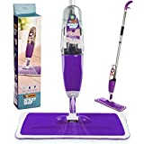 Vorfreude – Floor Mop with Integrated Spray and – Included Refillable 700Ml Capacity Bottle and Reusable Microfibre Pad