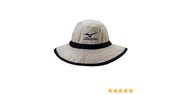 Mizuno Large Brim Sun Hat Chalk//Black Small//Medium