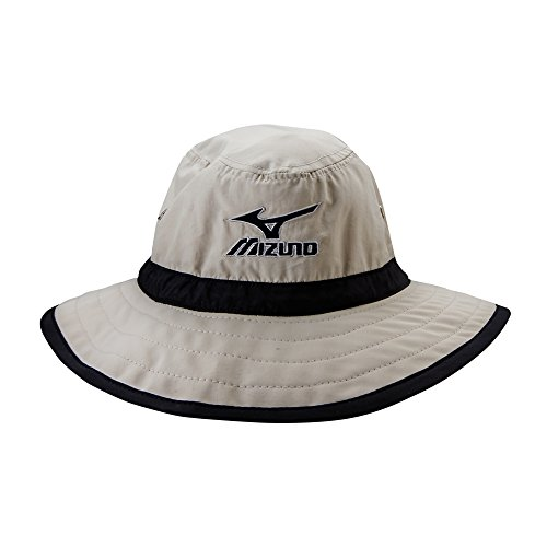 Mizuno Large Brim Sun Hat Chalk/Black, Large/X-Large ()