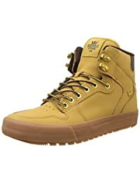 Supra Vaider Cold Weather Skate Shoe, Amber Gold-Light Gum, 7 Regular US