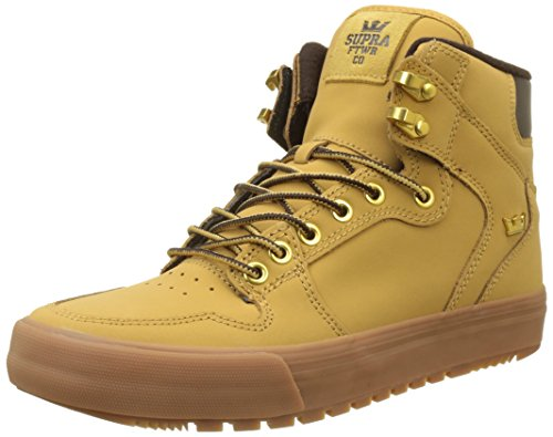 Supra Vaider Cold Weather Skate Shoe, Amber Gold-Light Gum, 12 Regular US