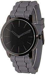 Geneva Grey w/ Black Silicone Jelly Watch