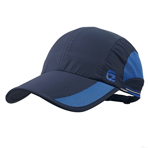 Cap Tennis Cotton - GADIEMKENSD Quick Dry Sports Hat Lightweight Breathable Soft Outdoor Run Cap (Classic Upgrade, Navy)