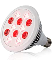 24W Red Led Light Red 660nm and Near Infrared 850nm Led Light Therapy Bulbs for Skin and Pain