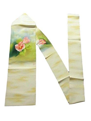 尽きる動的手数料リサイクル 名古屋帯  芙蓉の花模様 塩瀬