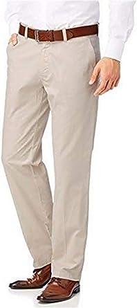 Pantalones De Tela De Algodon Estilo Chinos Hombre De Clase Algodon Beige 100 Algodon 100 Algodon N T T T T Hombre 98 Amazon Es Ropa Y Accesorios