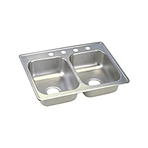 Dayton D225193 Equal Double Bowl Top Mount Stainless Steel Sink