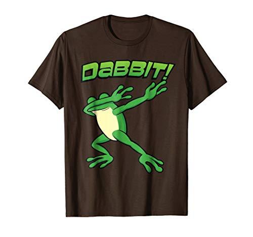 Funny Dabbing Frog Toad Hip Hop Dab Dance Dabbit Brown Shirt