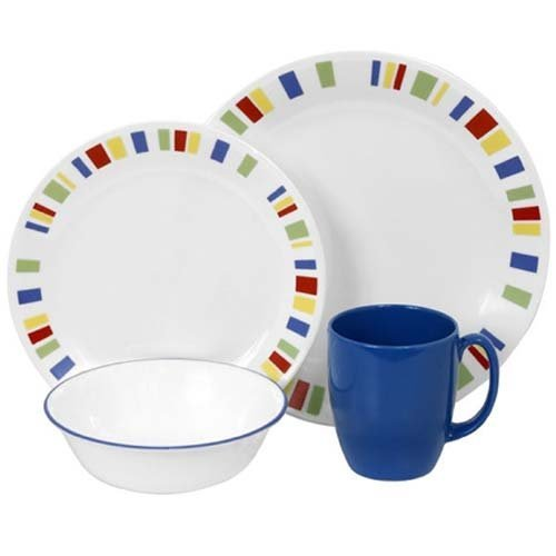 CORELLE 1092905 Livingware 16-Piece Dinnerware Set, Memphis, Service for 4
