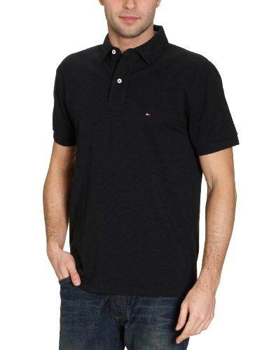 Tommy Hilfiger Herren Poloshirt, Gr. XXL, Schwarz (New Black 60)