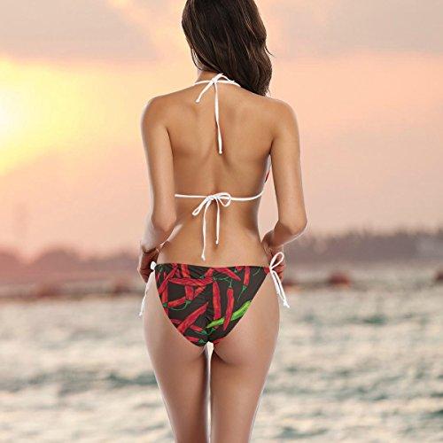 Deux Alaza Bikini Multicolore De Pepper Bain Chili Hot Pièces Femme Maillot 7rrpqTX