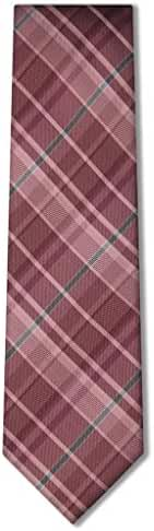 Origin Ties Men's Fashion Tartan Plaid Skinny Silk Tie 3'' Necktie