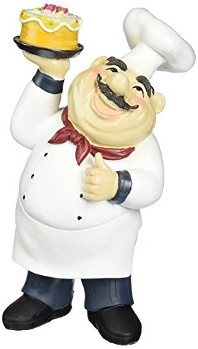 Fat Chef Kitchen Decoration Table Top Art Statue Bistro Cooking 64123