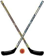 FRANKLIN - Streethockeyset incl. bal NHL I voor 2 spelers I hockeyset voor kinderen I outdoor streethockey - 2 hockey rackets & 1 streethockey-bal