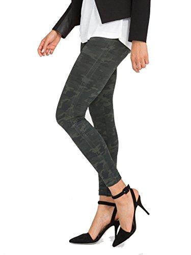 SPANX Women's Seamless Camo Leggings, Green Camo, Medium