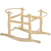 Cnsupply Wooden Rocking Stand for Nursery Basket internal size 80 x 36.5 CM (1)