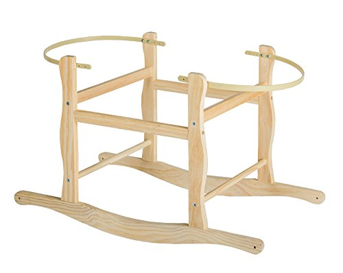 Cnsupply Wooden Rocking Stand for Nursery Basket internal size 80 x 36.5 CM (1) - Rocking Moses Stand