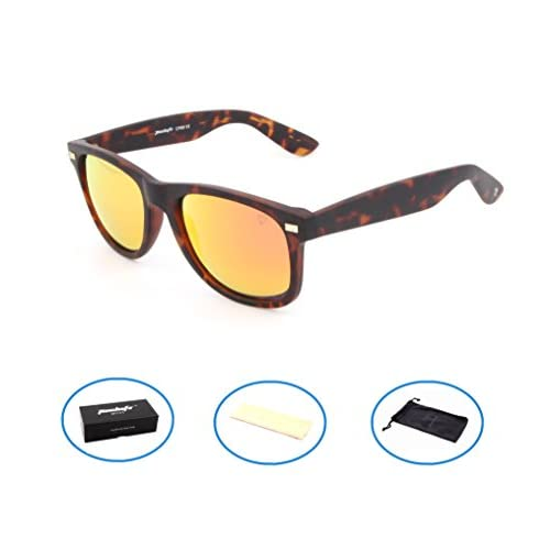 Tacloft Wayfarer Polarized Sunglasses Mirror Reflective Revo