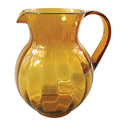 90 oz. Amber Plastic Pitcher, Dishwasher Safe, Break Resistant, for Indoor and Outdoor Entertaining, by GET P-4090-PC-A-EC (Qty,1) (Plastic Dishwasher Safe Pitcher)