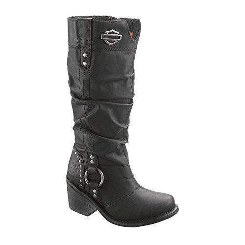 Harley-Davidson Women's Jana Black Boots. 13-Inch Shaft, 3-Inch Heels D83562 Size 9