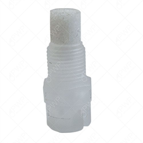 10 Pack Plastic White Flat Fan Spray Nozzle W/Poly Filter 1/8