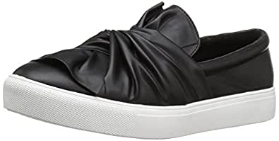 MIA Women's Zoe Fashion Sneaker, Black, 8.5 M US