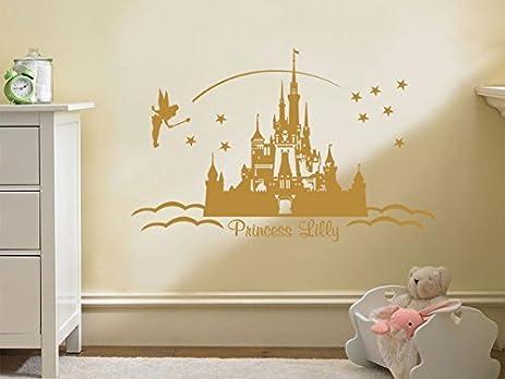 Amazon.com: PERSONALISED Princess Castle Wall Art, Vinyl Sticker ...