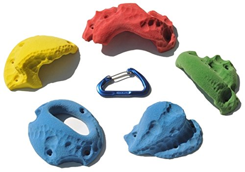 5 XL Limestone Jug Screw-Ons | Climbing Holds | Mixed Bright Tones by Atomik Climbing Holds