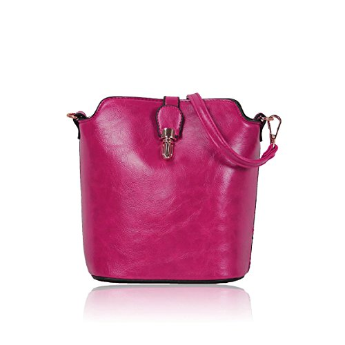 Gessy for Female Shouder Bag Popular and Simple Style for Going Out and Personal Effects with Long Shoulder Belt(Turquoise) Fushia