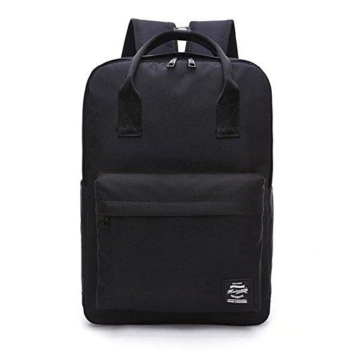 YingTech Lady Boy Girls Backpack Women Preppy School Bags For Teenagers Men Oxford Travel Bags Girls Laptop Backpack Mochila (Black)