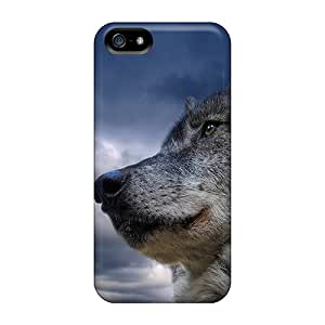 New Shockproof Protection Case Cover For Iphone 5/5s/ Wolf Case Cover