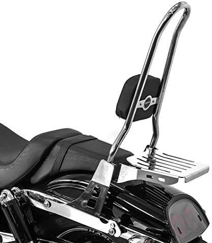 Sissy Bar Csxl Mit Gepäckträger Kompatibel Für Harley Davidson Dyna Fat Bob 10 17 Edelstahl Auto