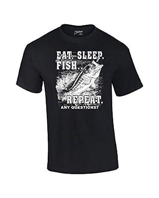 Fishing T-Shirt Eat Sleep Fish Repeat