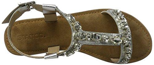Bianco Women's Diamanten Sandale Für Den Alltag 20-49359 Flip Flops Silver (Silver 91) official site cheap price GSARlL7