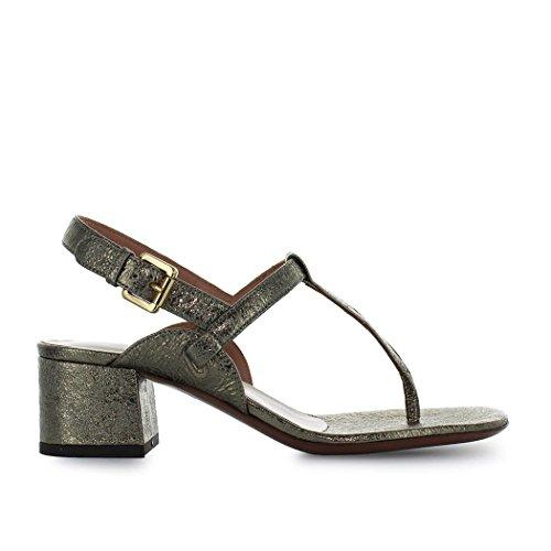 L'autre Mujer Cracklé Sandalia Verano Plana Zapatos Primavera 2018 Chose De Bronce x4aRHqwYB