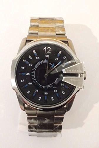 Diesel DZ1643 Master Chief Silver Stainless Steel Black Dial Men's Watch -